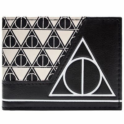 New Official Awesome Harry Potter Deathly Hallows Black Bi-Fold Wallet