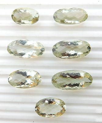 83.50 Ct Oval cut Lot Natural Green Amethyst Lot Loose Gemstone 7 Pieces V-430