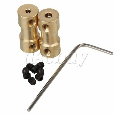 2pcs 2mm to 3mm Brass Shaft Couplings Coupler Motor Connector DIY With Screws