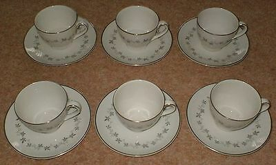 Six Royal Doulton Cadence Expresso Coffee Cups And Saucers Tc 1007