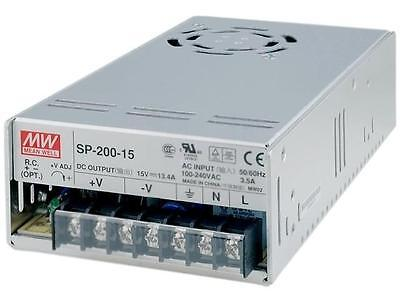 Mean Well SP-200-15 RC 15V DC 200W 13.4A Variable Output Power Supply PSU