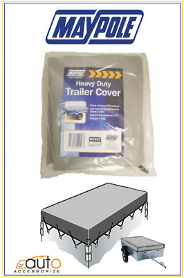 Maypole 4ft x 3 ft -4x3- 4ft x 3ft Leathercloth Trailer Flat Cover - MP927-GREY