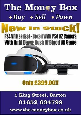 PS4 VR Headset with V2 Camera and Rush of Blood Game