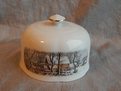 Avon Representative Currier and Ives Butter Dish Lid Only