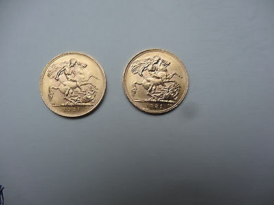 2 X 1931 Gold Sovereigns