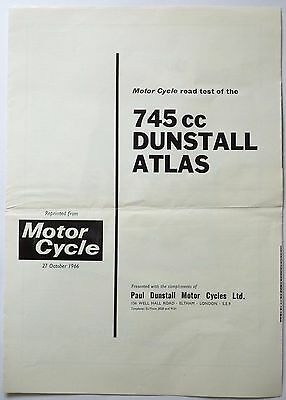 Motor Cycle Road Test of the 745cc Dunstall Atlas - 1966
