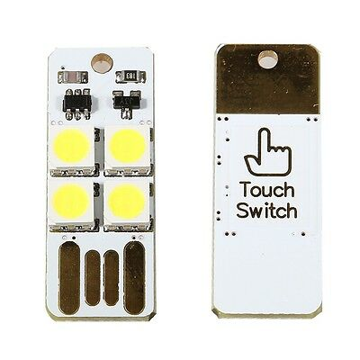 Simple Touch Switch USB mobile Camping LED Leuchte klein praktisch hell
