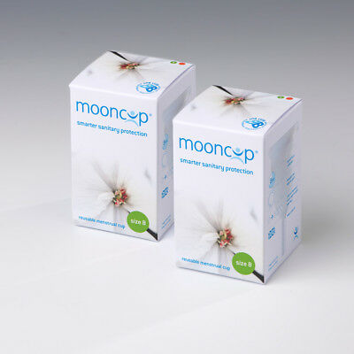 MOONCUP Reusable Menstrual Cup Size B – Pack of 2 – Save £4.00