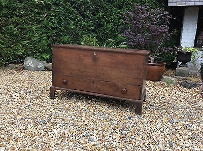 Georgian Oak Mule Chest Coffer Bedroom Living Room Period Storage Barn Country