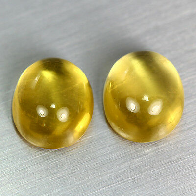 11.810 Ct Unique Dazzling Aaa Golden Yellow 100% Natural Heliodor Beryl Cab Pair