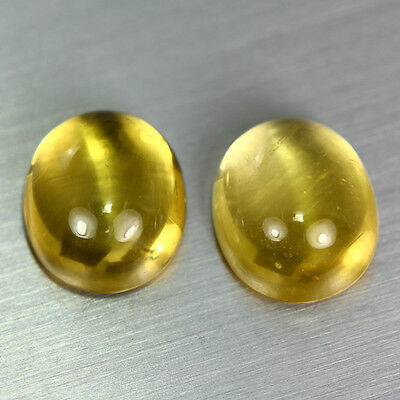 11.110 Ct Unique Dazzling Aaa Golden Yellow 100% Natural Heliodor Beryl Cab Pair