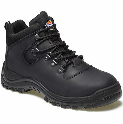 127B4 Mens Dickies Fury Safety Work Boots Size 38 Fa23380A Black