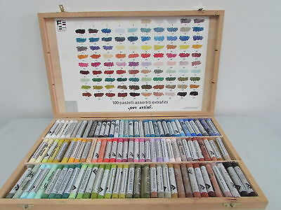 Complete Set Of 100 Pc Ferrario Extrafine Soft Pastels Full Stick Quality