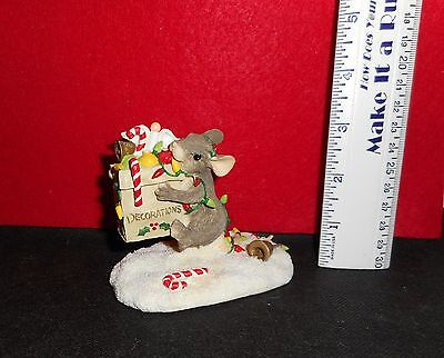 """Charming Tails    [ All The Trimmings  ]   3  """" Tall  Limited Edition   Figurine"""