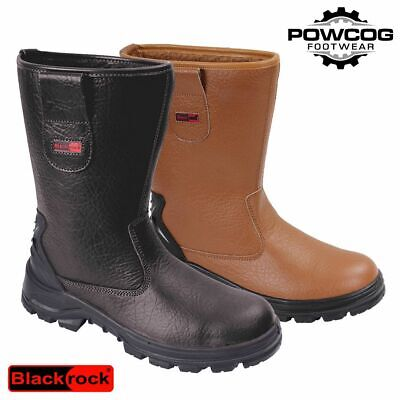 BLACKROCK RIGGER BOOTS Safety Steel Toe Caps BLACK or TAN Fur Lined - ALL SIZES