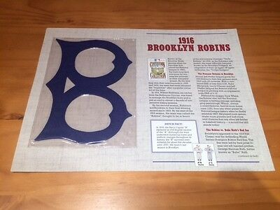 Vintage Cooperstown Collection Baseball Patch 1916 Brooklyn Robins