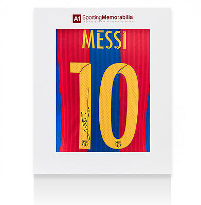 Lionel Messi Signed Barcelona Shirt 2016/2017 - Gift Box Autograph Jersey