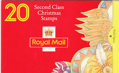 UK, Royal Mail, Second Class Christmas stamp booklet complete 1994, SG: L x 7