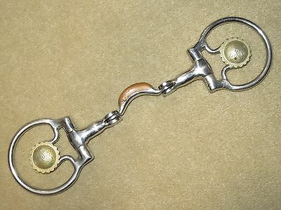 GUC~Flashy & NICE QUALITY Western Jointed SS Show Snaffle Bit w/SILVER FLOWERS!