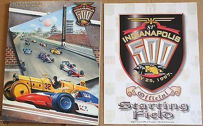 1997 Indy 500 Program w/Starting Field Insert Indianapolis Motor Speedway