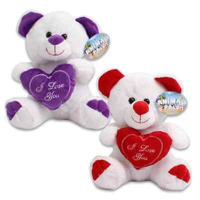 Plush Valentines Bear with I Love You Heart