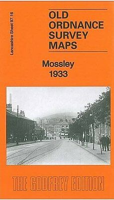 Old Ordnance Survey Map Mossley 1933