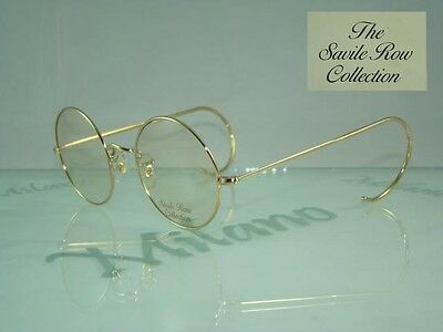 RARE VINTAGE SAVILE ROW 14KT GOLD PLATED Glasses Brille EyeGlasses Frames Size49