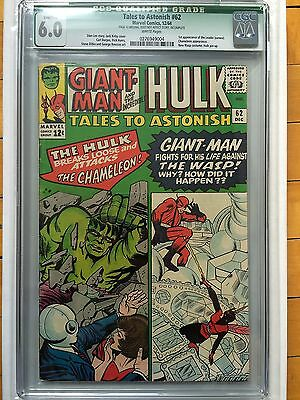 CGC Q 6.0 Tales to Astonish #62 *White*1964*1st App. Leader (Cameo)*Qualified*