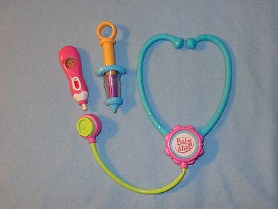 Baby Alive Doll BETTER NOW ACCESSORIES Stethoscope Thermometer  Lot
