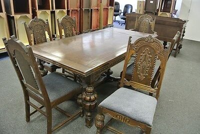 Antique 1920's Jacobean Style Dinning Room Set