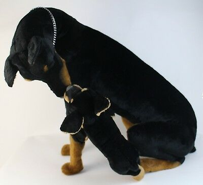 VTG Avanti Doro Life Size Doberman with Pup Stuffed Dog Handcrafted Italy LE