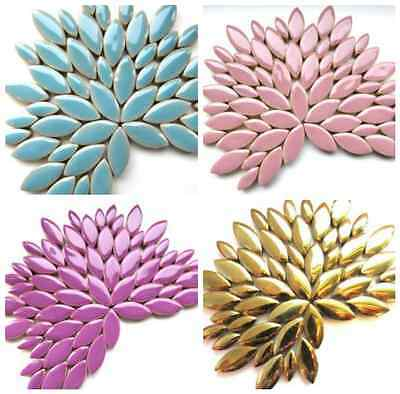Petal Ceramic Mosaic Tiles in a Choice of Colours - 50g