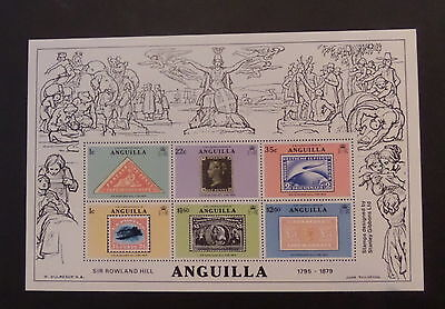 Anguilla 1979 Death Centenary Rowland Hill MS364 MNH UM unmounted mint