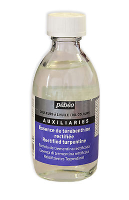 Pebeo Rectified Turpentine Large 245ml Bottle - Artist Oil Painting Medium