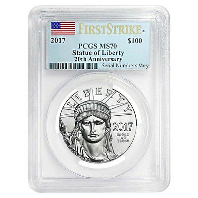 2017 1 oz Platinum American Eagle PCGS MS 70 First Strike