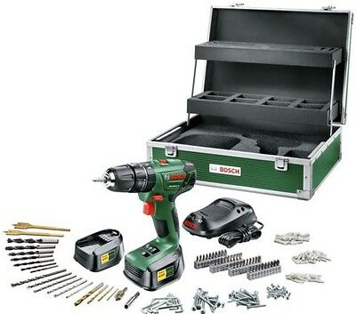 Bosch 18v Li-ion Cordless Combi Hammer Drill With 2 Batteries & 241 Accessories