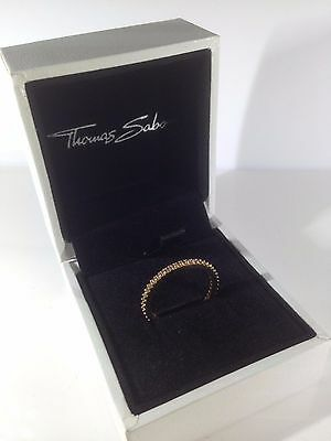 7076 Thomas Sabo Sterling Silver Yellow Gold Plated CZ Eternity Ring Size N/54