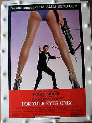 """for Your Eyes Only"" James Bond Original Theatre Poster Vintage 1981"
