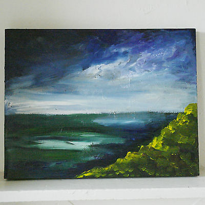 gallery wall landscape painting original art on canvas acrylics picture sea