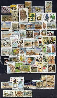 NAMIBIE + SUD OUEST AFRICAIN / NAMIBIA + SWA : lot de 67 timbres différents