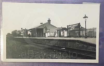 Canterbury South Railway Station - Real Photo. Old Rare Item - See Listing