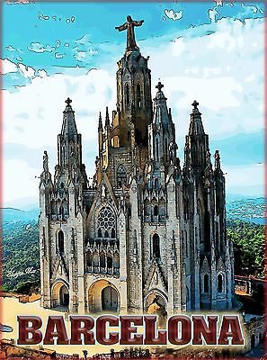 Barcelona Spain Spanish European Europe Vintage Travel Advertisement Poster 3