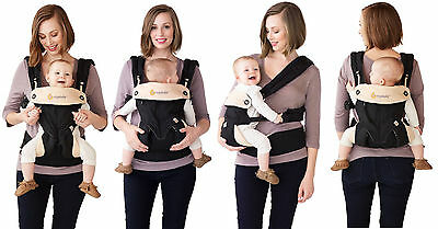Ergobaby BABY CARRIER Four position 360   |  New w/ Box!!  |  Black & Camel