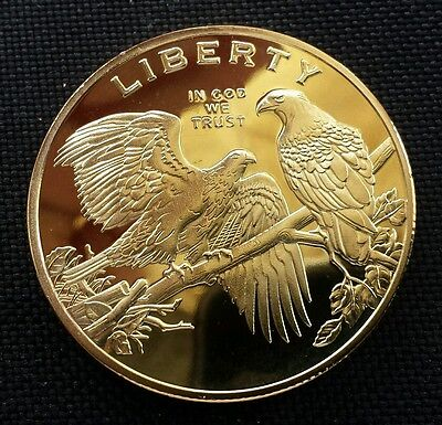 2 Eagle Double Liberty USA commemorative Gold Plated Coin Collection