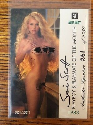 Playboy Trading Cards Autograph May Edition Susie Scott