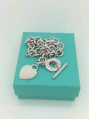 Tiffany & co. Sterling Silver heart tag toggle necklace!!!