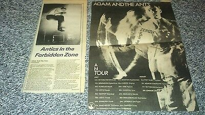 Adam & the ants Clippings, Sex pistols, clash, damned, punk