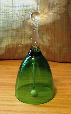 Collectable Green Glass Bell