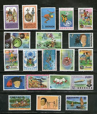 Grenada (British Colony) : 20 Diff. Large Commemo. Stamps On  Topicals, Mnh