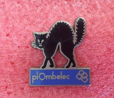 Pins ANIMAUX CHAT Noir PLOMBELEC